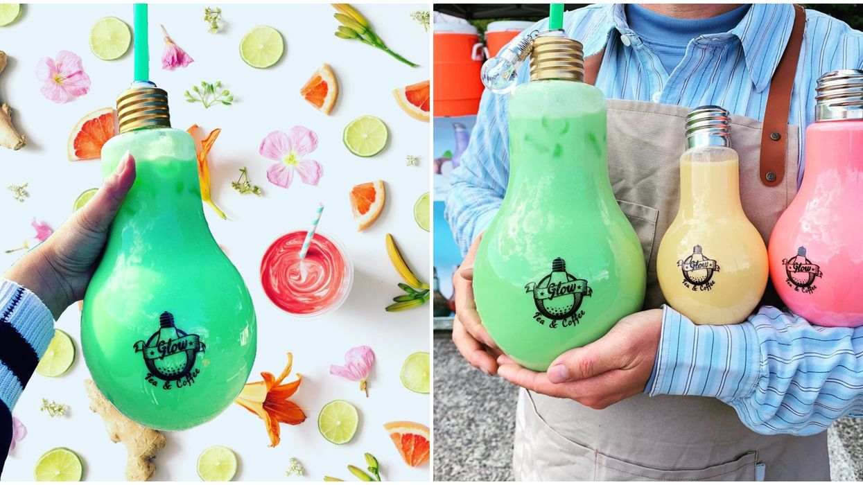This Boba Tea In Washington State Comes In Massive 2 Liter Light Bulbs