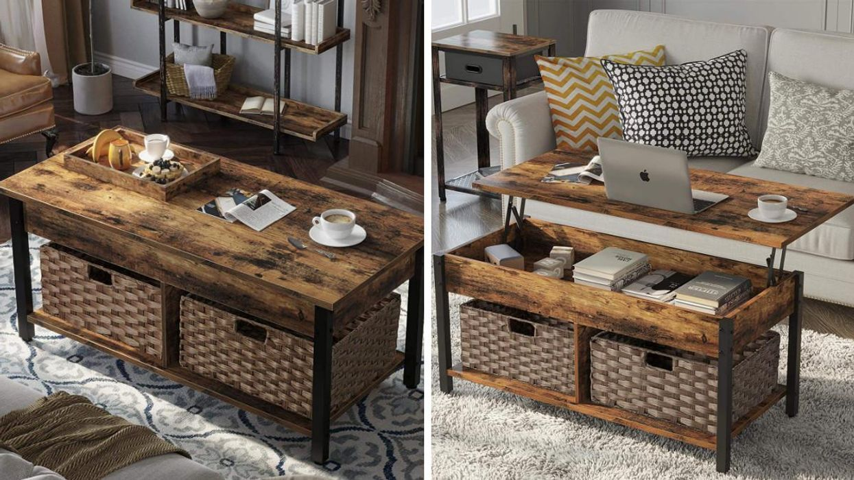 This Convertible Coffee Table From Amazon Canada Is Perfect If You Love To WFH On Your CouchThis Convertible Coffee Table From Amazon Canada Is Perfect If You Love To WFH On Your Couch