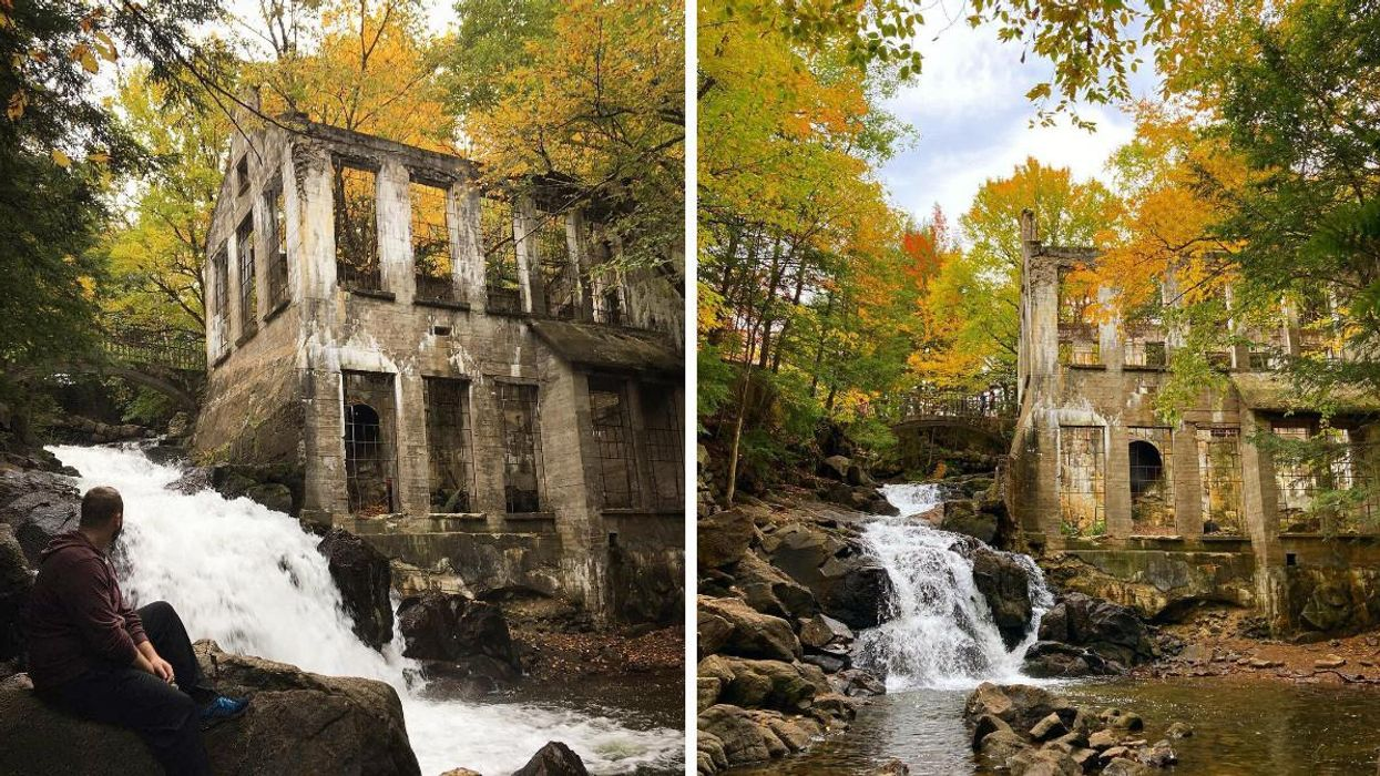 This Gatineau Park Trail Near Ottawa Takes You Past Colourful Leaves, A Waterfall & Ruins