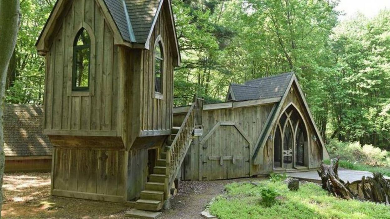 This Gothic Home In Ontario Is Hidden In A Carolinian Forest & Has A Secret Wine Cellar
