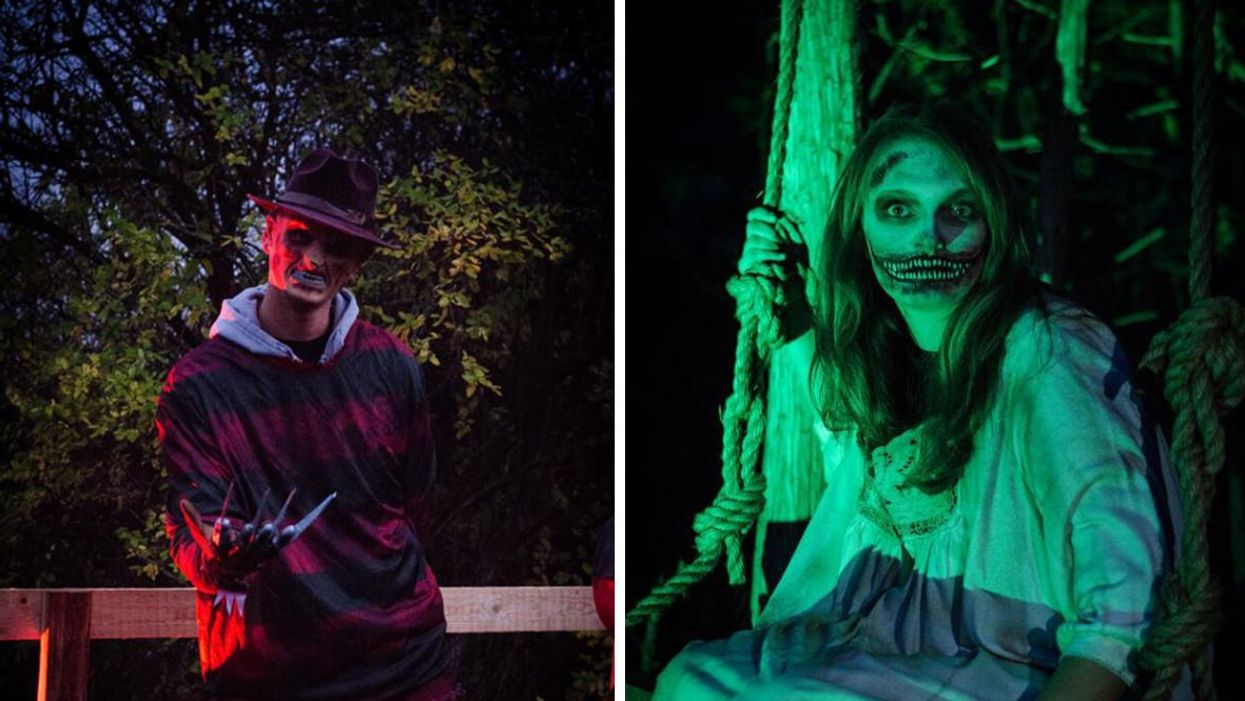 This Haunted Trail Near Toronto Has Actors Lurking In The Dark & All You Have Is A Lantern