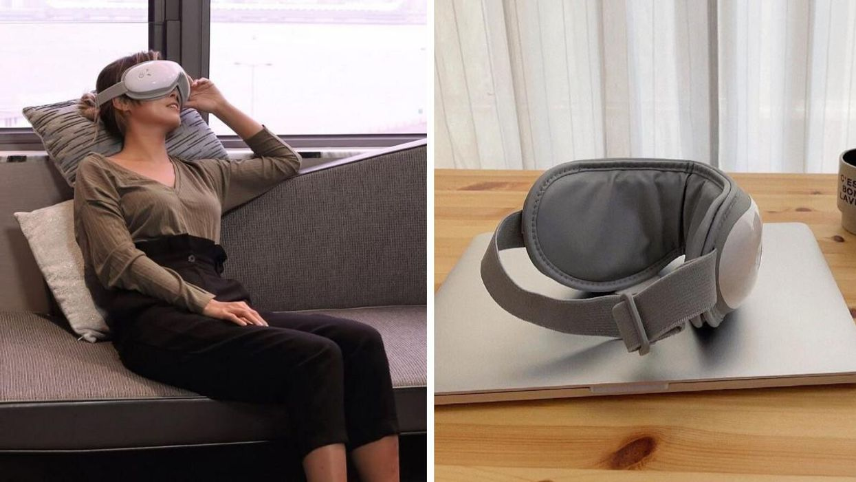 This Heated Eye Massager From Amazon Canada Can Relieve Your Eye Strain & Headaches