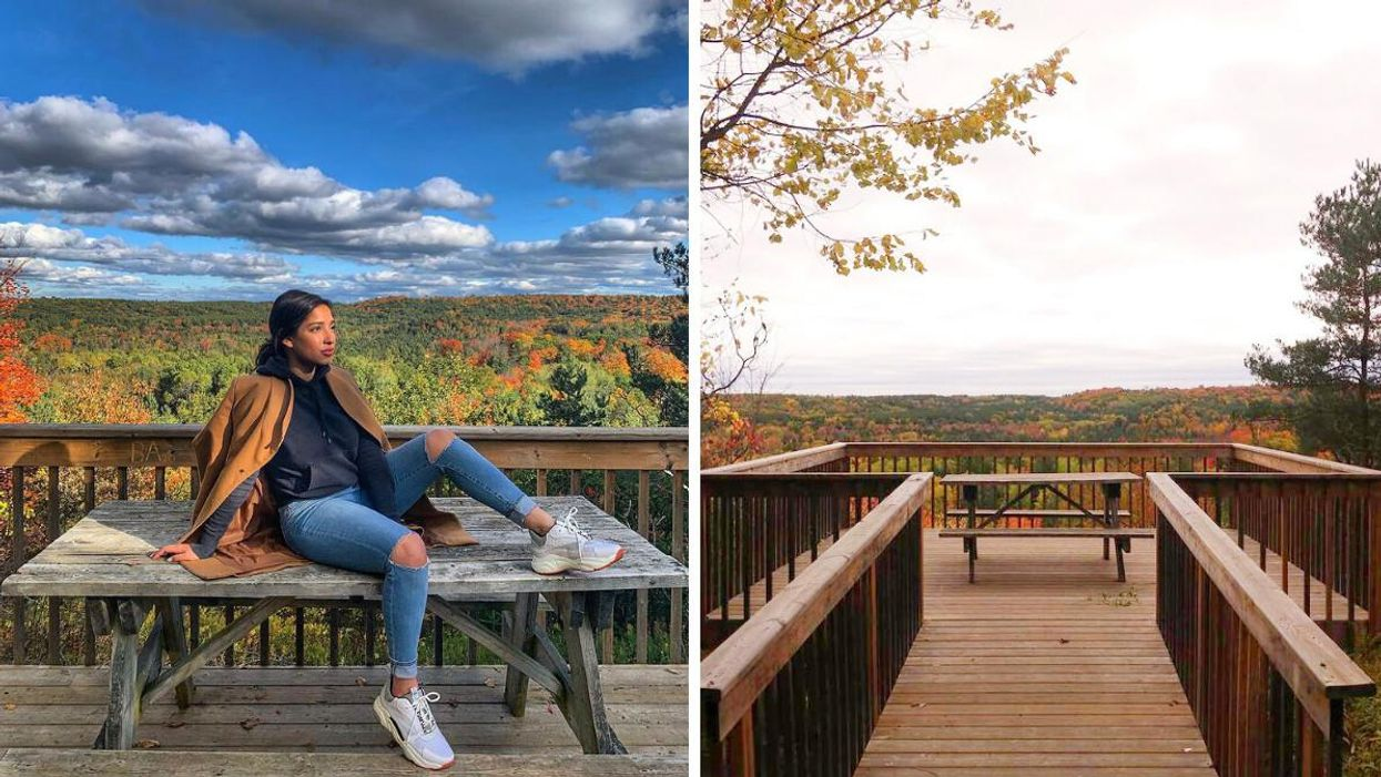 This Magnificent Trail Near Toronto Takes You Through Colourful Trees To A Hidden Lookout