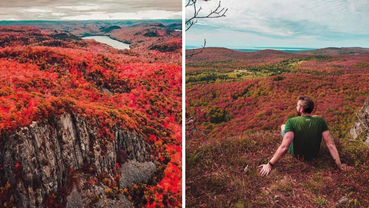 This Majestic Cliff Trail In Ontario Brings You Soaring Views Of Red & Orange Highlands
