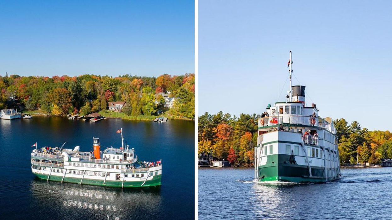 This Ontario Cruise Will Take You Past The Colourful Foliage On A Historic Steamship
