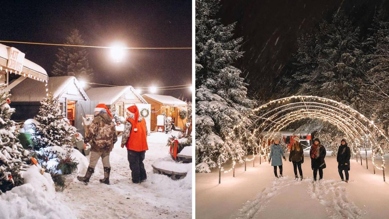 This Ontario Farm Is Transforming Into A Magical Christmas Village With Twinkling Lights