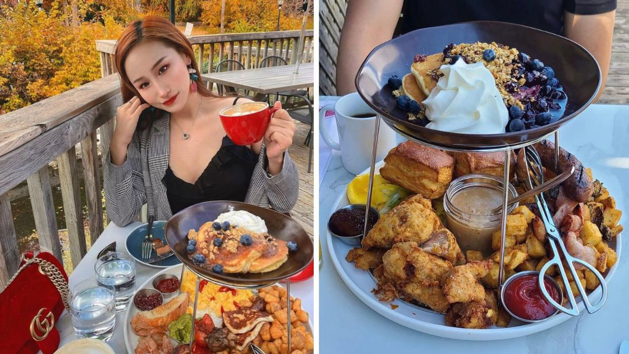 This Restaurant Near Toronto Serves Drool-Worthy Brunch Towers With A View