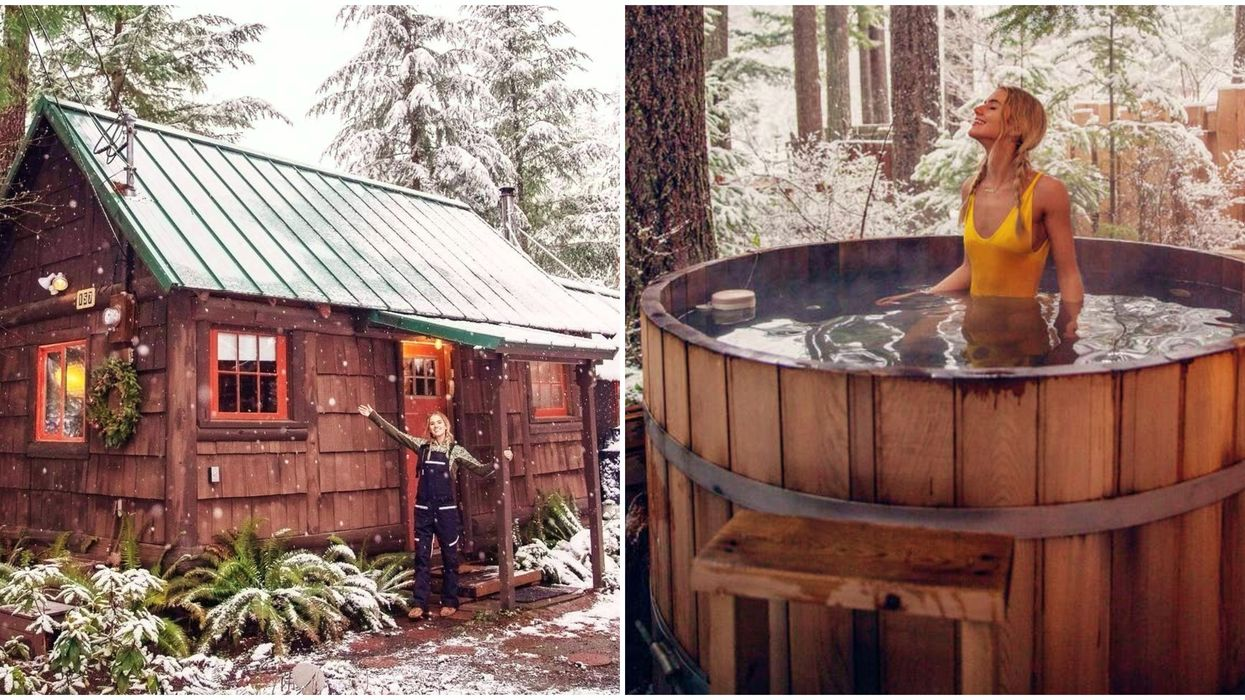 This Romantic Airbnb Near Mt.Rainier Washington Comes With Its Own Hot Spring