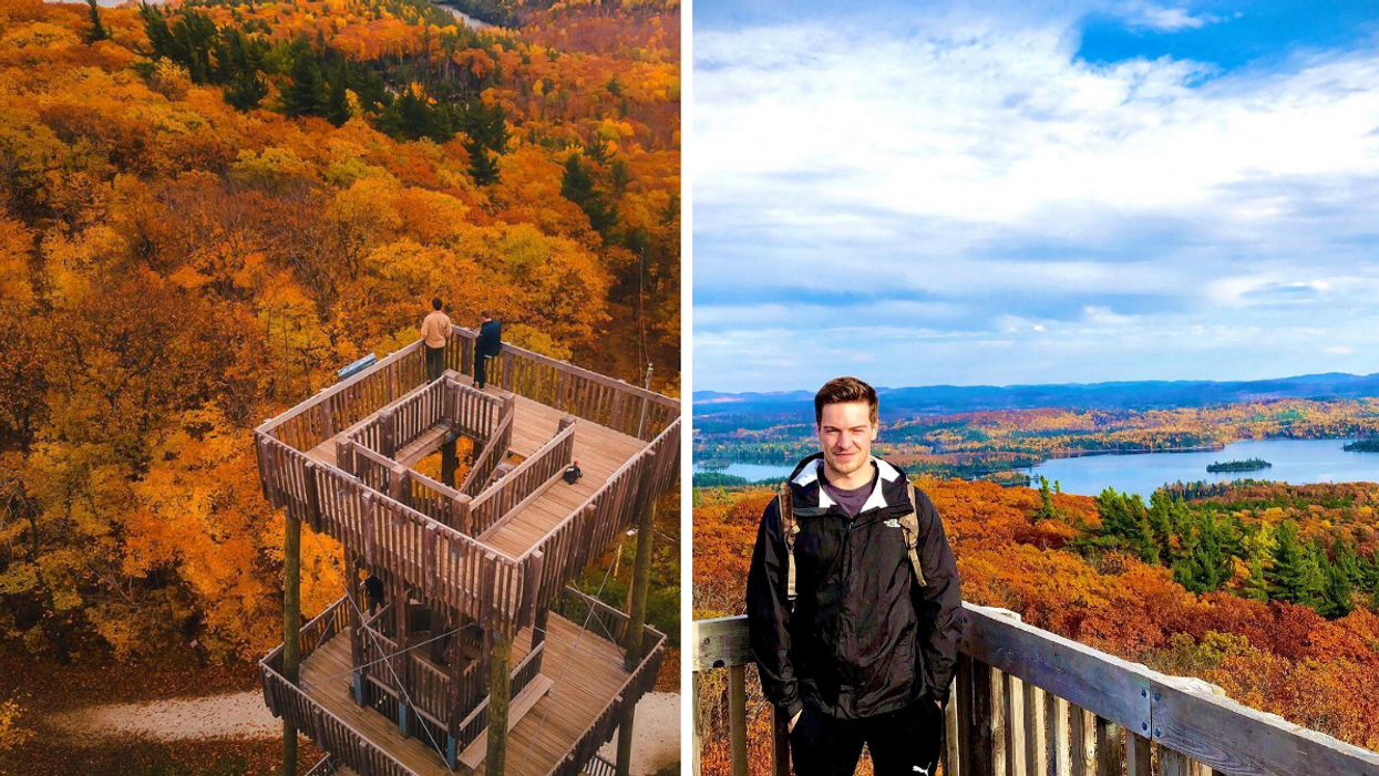 This Trail Near Ottawa Has An Observation Tower With Golden Views As Far As The Eye Can See