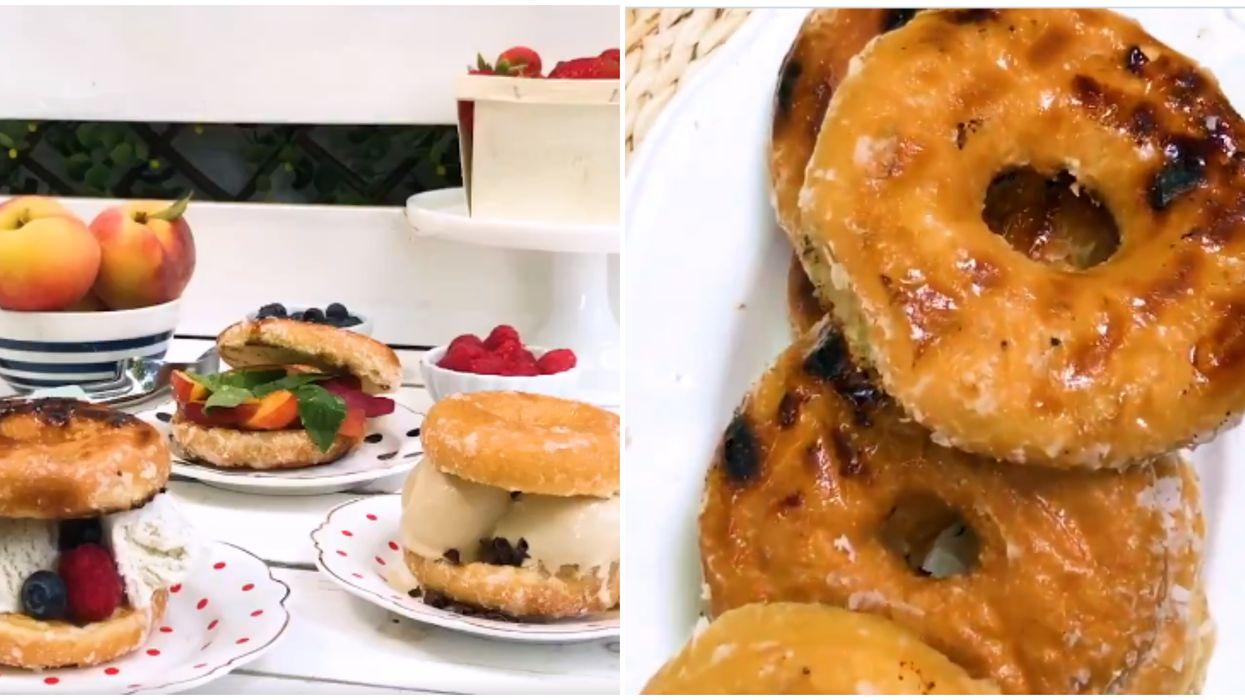 Tim Hortons partage une nouvelle recette de sandwich à la crème glacée avec beigne grillé