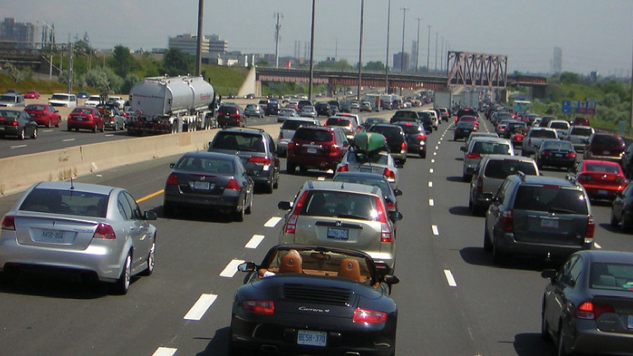 Toronto Highway Collision Caused After Man Walked Across Highway 427
