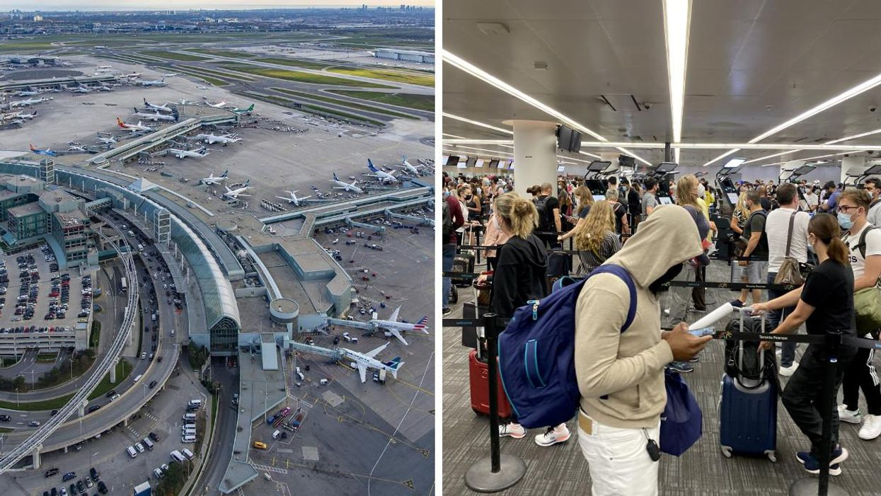 Toronto Pearson Airport Advises Arriving Early Due To Anti-Mask Protest