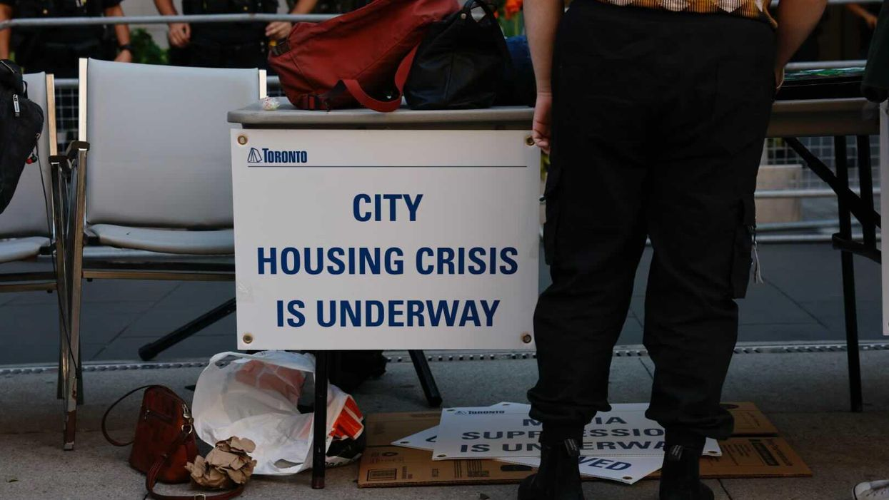 Toronto's Homeless Community & Encampment Supporters Protest Charges Laid By TPS