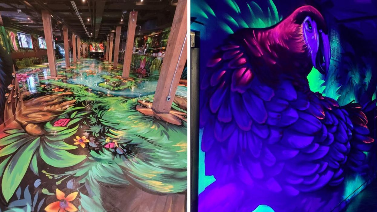 Toronto's Immersive New Bar Has 'Avatar' Vibes & Is Full Of Ever-Changing Art (PHOTOS)