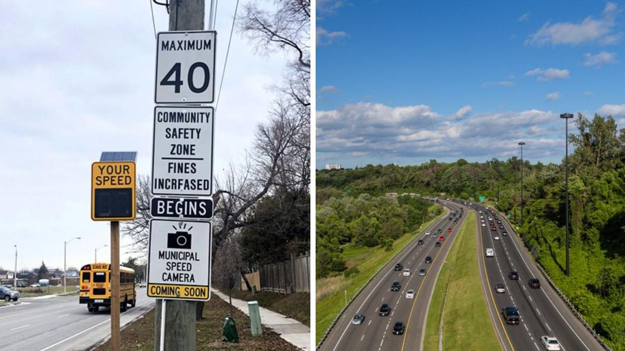 Toronto's Speed Cameras Will Be Popping Up In 50 New Spots Next Month & Here's Where