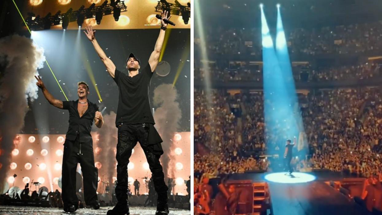 Toutes les photos du passage d'Enrique Iglesias et Ricky Martin à Montréal hier soir