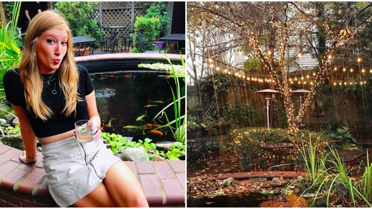 Wine Bar In Charlotte Has A Secret Garden With A Koi Pond & 400+ Wines