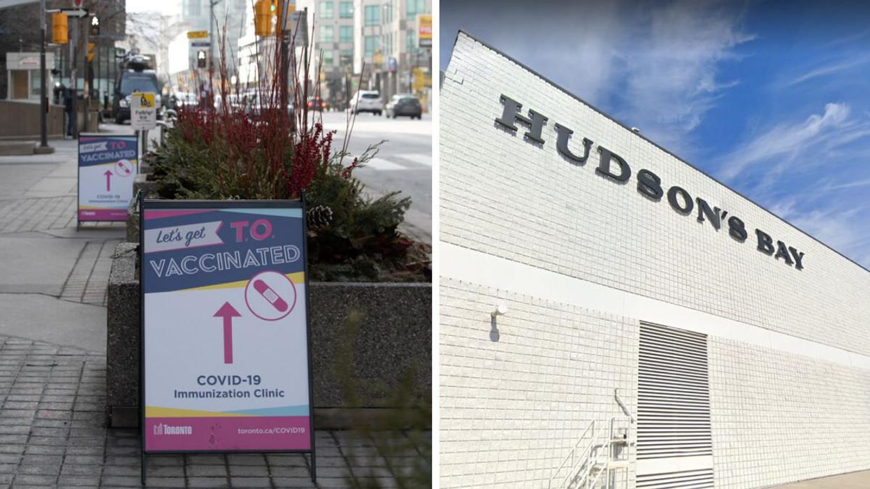 You Can Get 20% Off Hudson's Bay If You Get Vaccinated At Woodbine Mall In Toronto Today