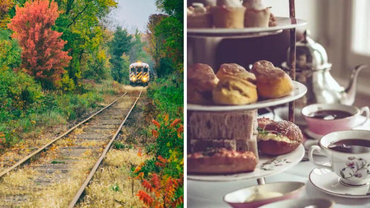 You Can Sip High Tea While Riding Through The Fall Colours On A Historic Train Near Toronto