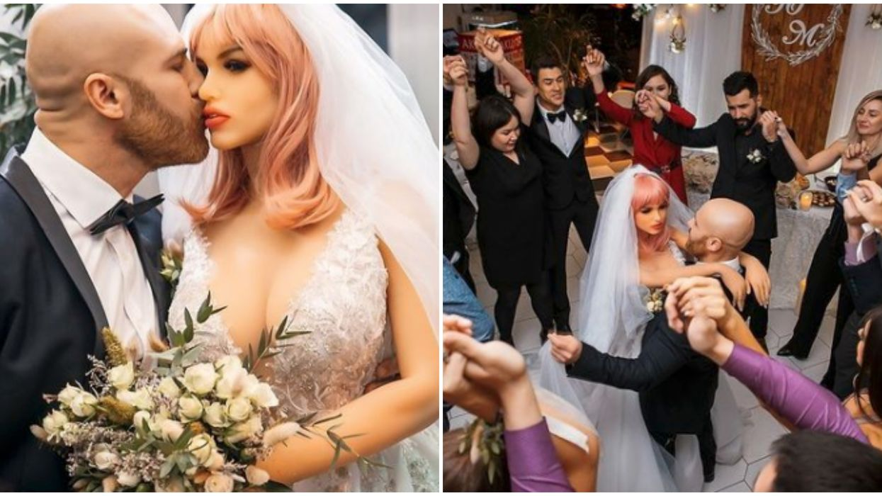 Yuri Tolochko: The Kazakhstani Bodybuilder Just Married His Silicone Girlfriend (VIDEO)